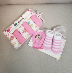 Chikitoe Terry Washcloths & Mittens and Sock Set